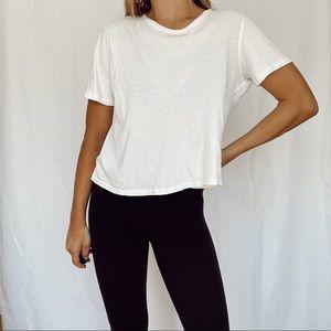 zara white t shirt